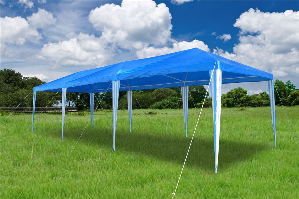 & 10 x 30 Catering Blue Gazebo Party Tent Canopy