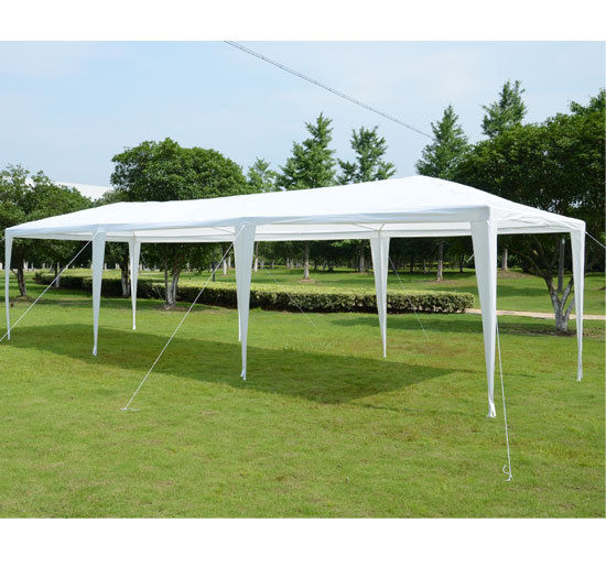 & 10 x 30 White Party Tent Gazebo Canopy