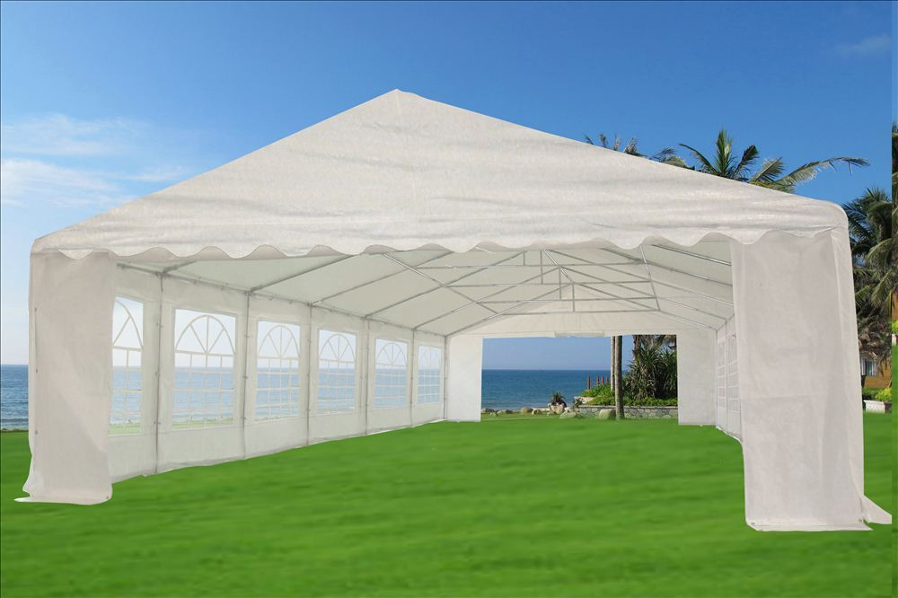 & 20 x 40 Heavy Duty White Gazebo Canopy Tent