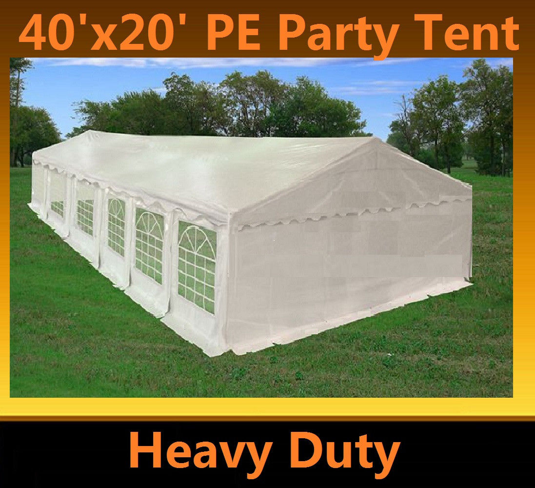 sc 1 st  Wholesale Event Tents & 20 x 40 Heavy Duty White Gazebo Canopy Tent
