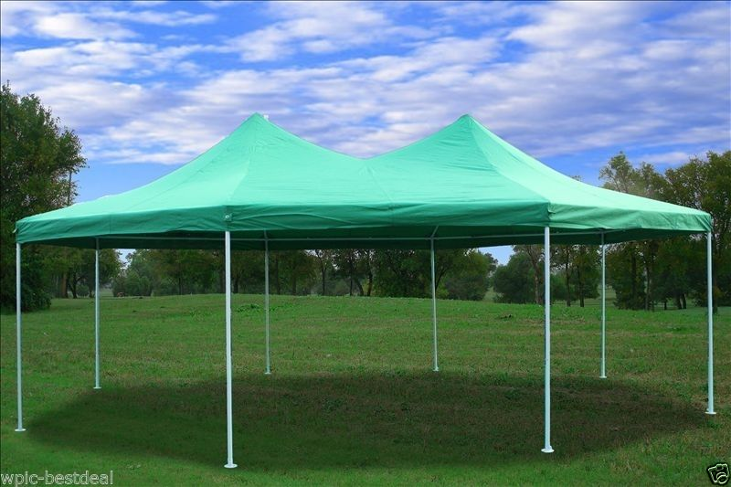 22 x 16 Green Gazebo Tent 02 & 22 x 16 Heavy Duty Party Tent Gazebo - 4 Colors