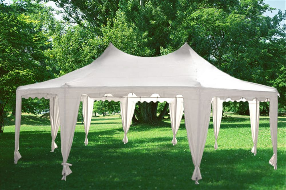 22 x 16 Green Gazebo Tent & 22 x 16 Heavy Duty Party Tent Gazebo - 4 Colors