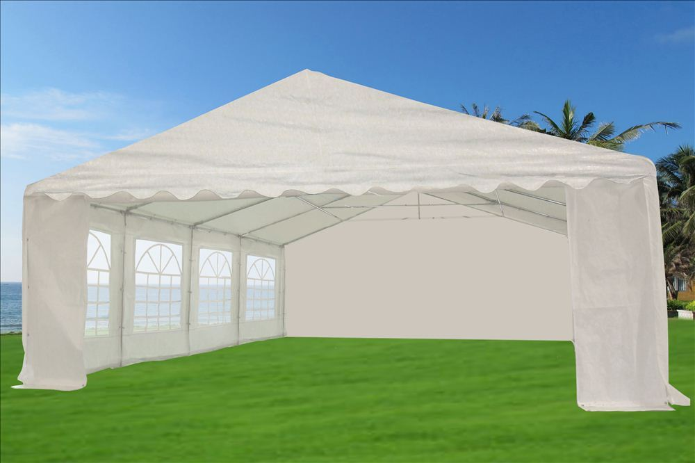 26 x 20 White Tent 01 & 46 x 20 Heavy Duty White Party Tent Gazebo Canopy -