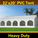 32 x 20 Heavy Duty White PVC Tent