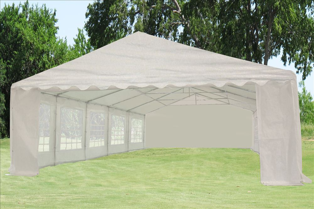 & 32 x 20 Heavy Duty White PVC Tent Canopy Gazebo