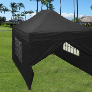10 x 15 Black Pop Up Tent 2