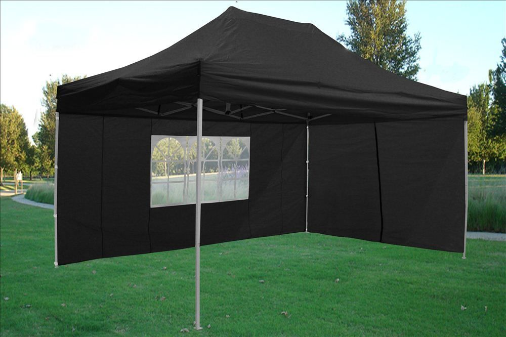 10 x 15 Black Pop Up Tent & 10 x 15 Easy Pop Up Tent Canopy - 5 Colors -