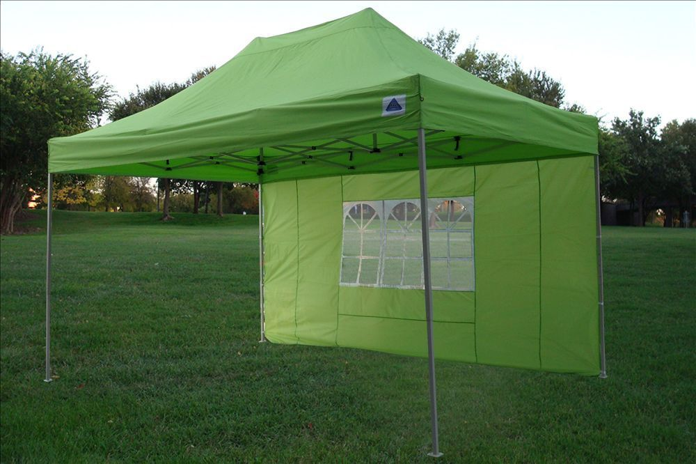 10 x 15 Emerald Green Pop Up Tent 2 & 10 x 15 Easy Pop Up Tent Canopy - 5 Colors -