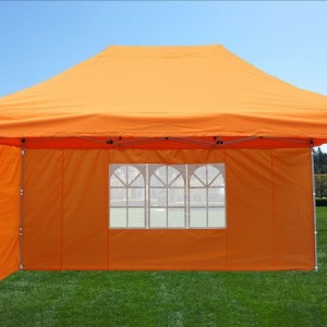 10 x 15 Orange Pop Up Tent 2