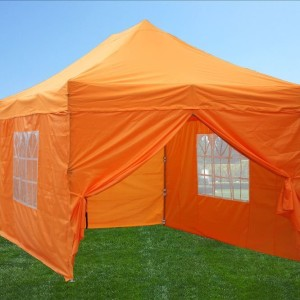 10 x 15 Orange Pop Up Tent