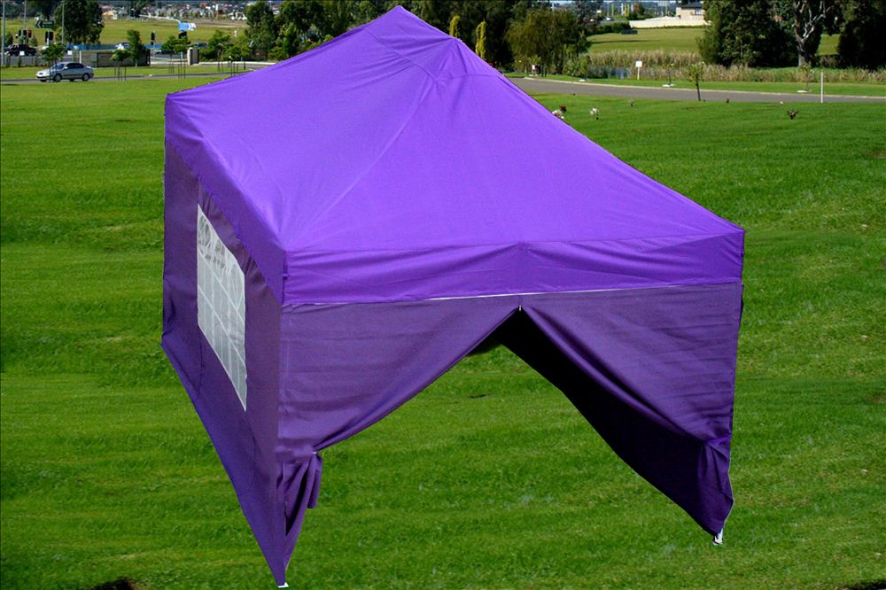 10 x 15 Purple Pop Up Tent & 10 x 15 Easy Pop Up Tent Canopy - 5 Colors -