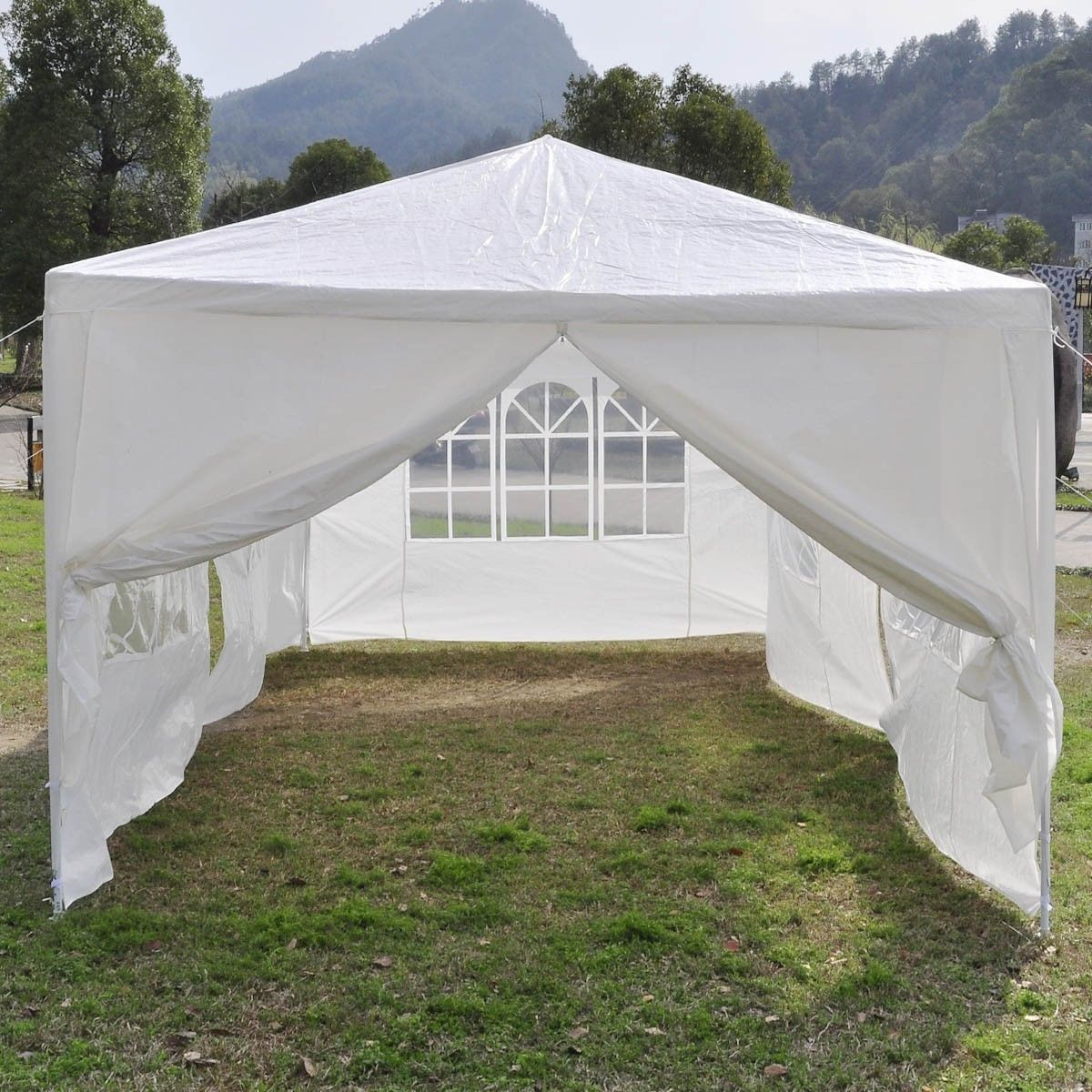 & 10 x 20 White Party Tent Canopy Gazebo