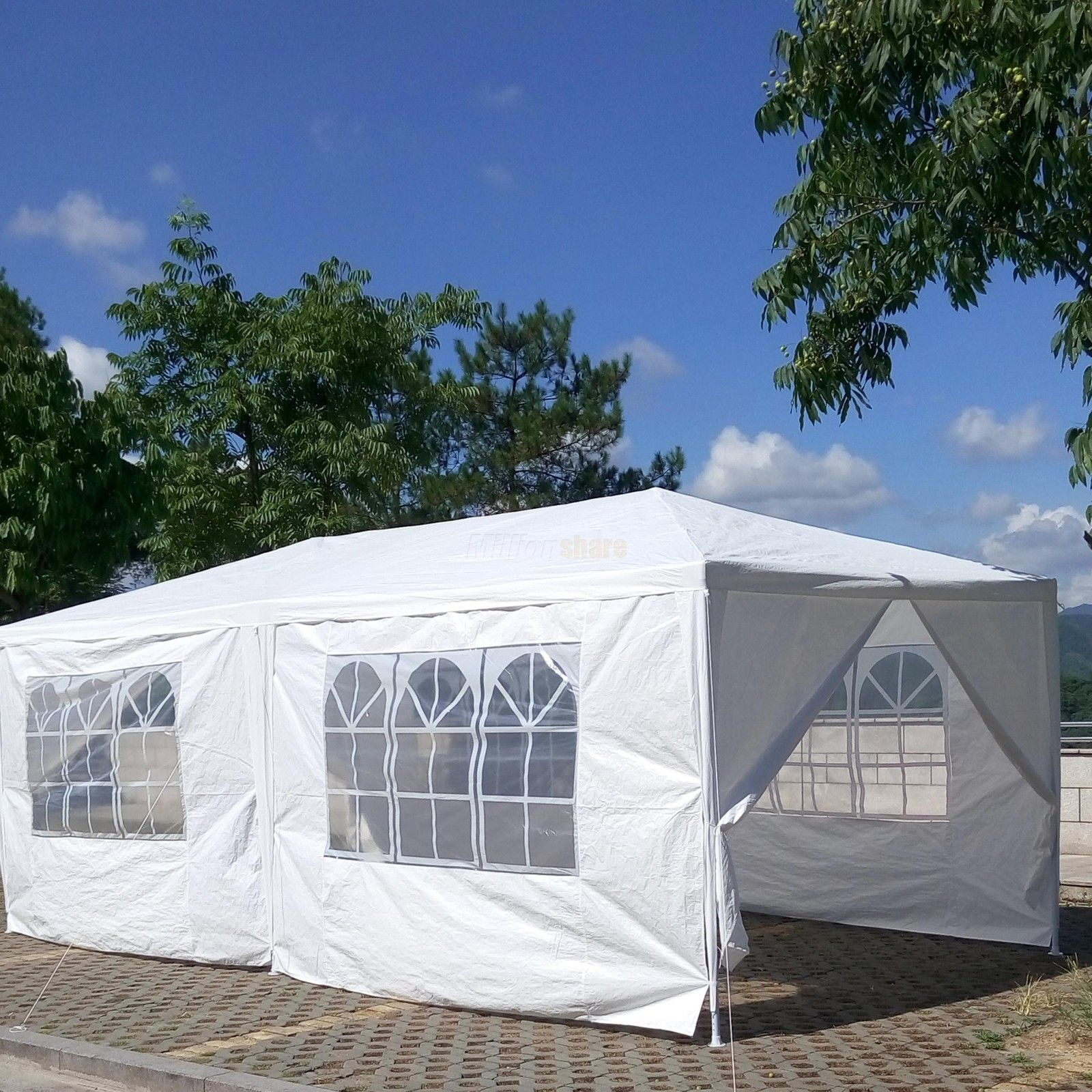 10 x 20 White Party Tent Canopy Gazebo & x 20 White Party Tent Canopy Gazebo