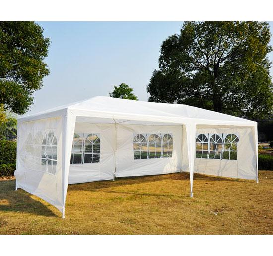 10 x 20 white party tent canopy gazebo. Black Bedroom Furniture Sets. Home Design Ideas