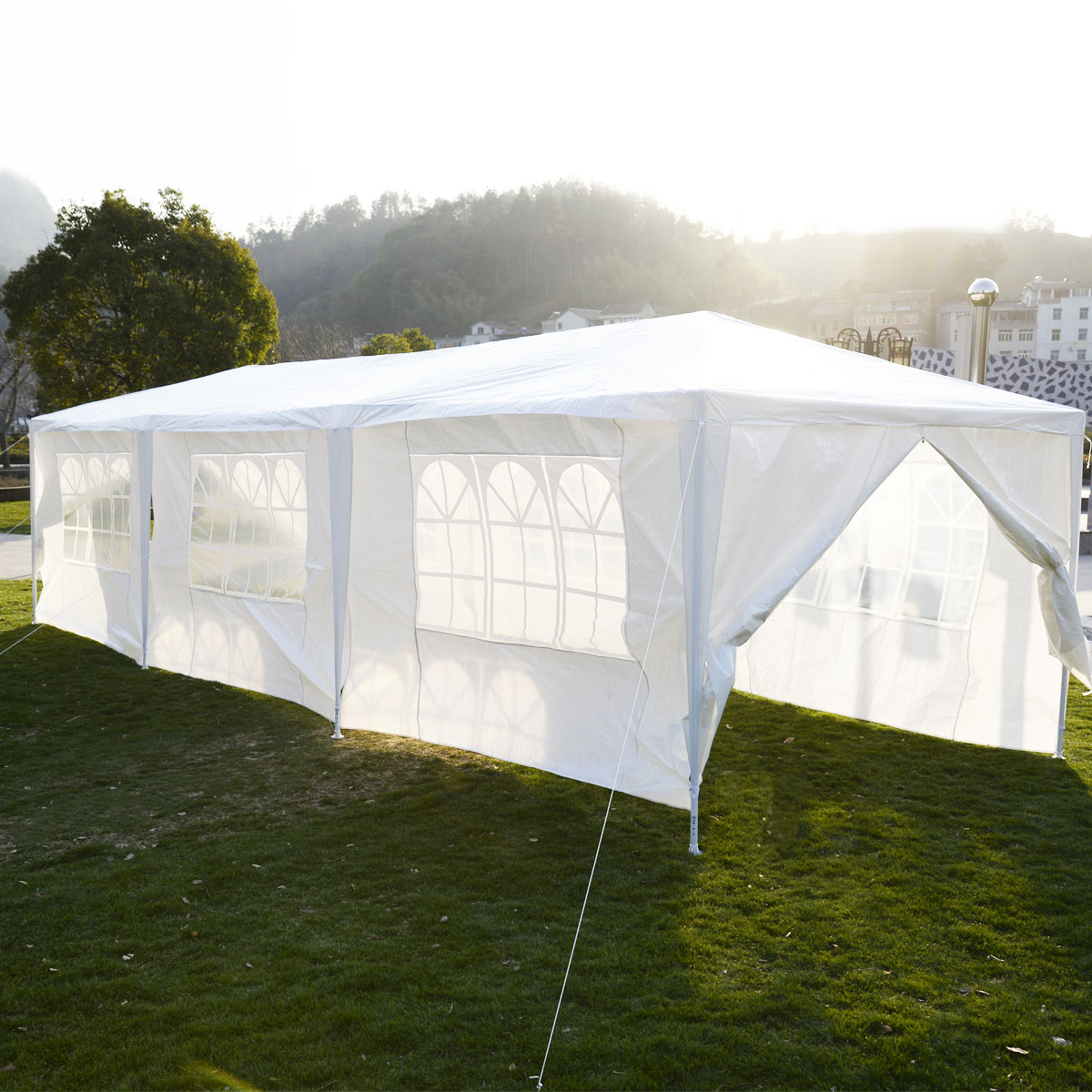 10 x 30 white party tent gazebo canopy. Black Bedroom Furniture Sets. Home Design Ideas