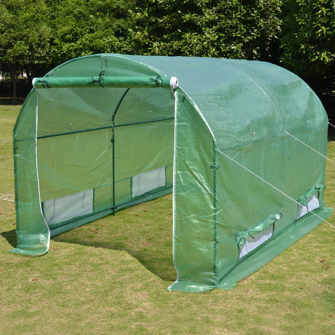 10 x 7 x 6 portable greenhouse canopy for 10x10 roll up door for sale