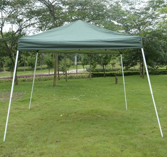 10 x 10 Green EZ Pop Up Tent & 10 x 10 EZ Pop Up Party Tent Gazebo Canopy