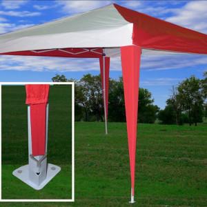 10 x 10 Pop UP CS Tent - Red & White