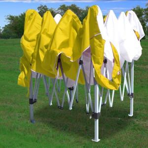 10 x 10 CS Pop UP Canopy Tent - Yellow & White 2