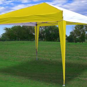 10 x 10 CS Pop UP Canopy Tent - Yellow & White