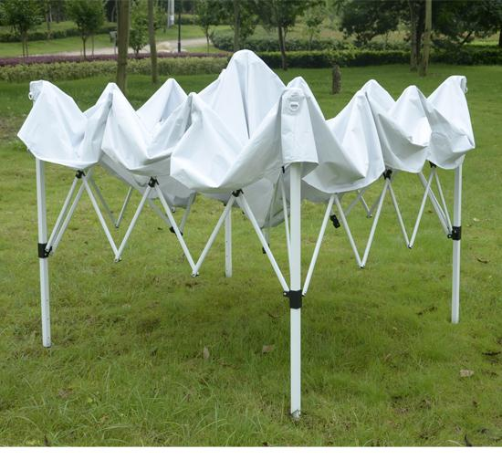 10 x 10 White EZ Pop Up Tent FRAME & 10 x 10 EZ Pop Up Party Tent Gazebo Canopy