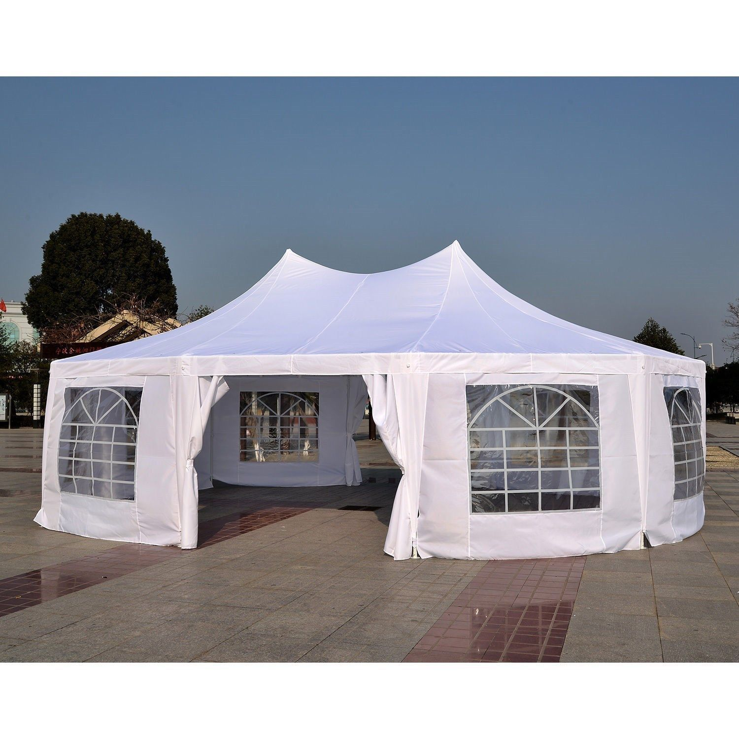 29 x 21 heavy duty party tent canopy gazebo standard or elegant. Black Bedroom Furniture Sets. Home Design Ideas
