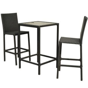 3 Piece Outdoor Wicker Dining Set