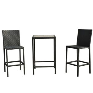 3 Piece Outdoor Wicker Dining Set 2