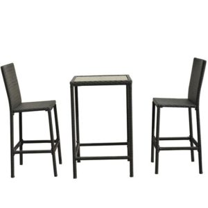 3 Piece Outdoor Wicker Dining Set 3