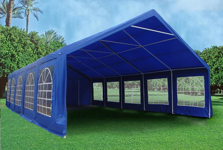 Pop Up Canopy Tent >> 32 x 20 Heavy Duty Party Tent Gazebo Canopy - Blue / Green