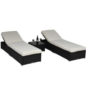 3pc Wicker Chaise Lounge Set 05