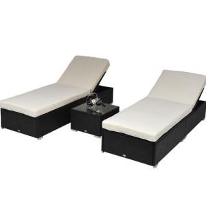 3pc Wicker Chaise Lounge Set 07