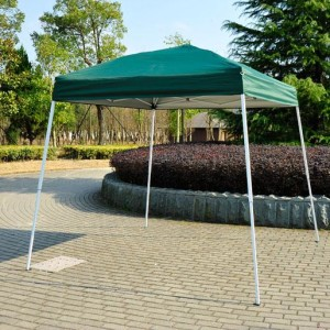 8 x 8 Slant Leg Pop Up Canopy Green