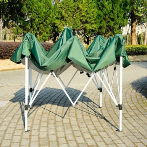 8 x 8 Slant Leg Pop Up Canopy Green Frame
