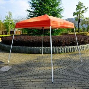 8 x 8 Slant Leg Pop Up Canopy Red