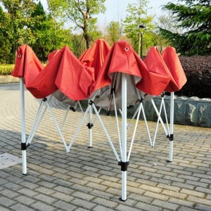 8 x 8 Slant Leg Pop Up Canopy Red Frame