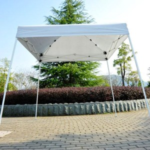 8 x 8 Slant Leg Pop Up Canopy White