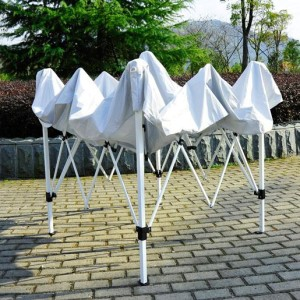 8 x 8 Slant Leg Pop Up Canopy White Frame