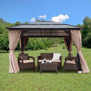 10 x 12 Hardtop Gazebo Canopy Polycarbonate Roof