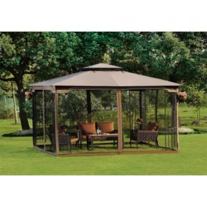 10 x 12 Regency II Patio Gazebo with Mosquito Netting 02