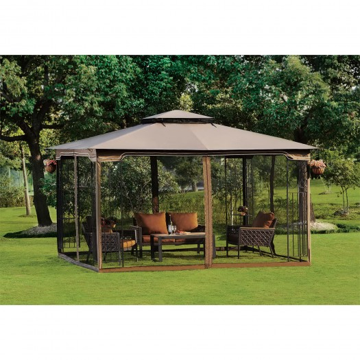 10 x 12 Regency II Patio Gazebo with Mosquito Netting 02  sc 1 st  Wholesale Event Tents & 10 x 12 Gazebo Canopy with Mosquito Netting