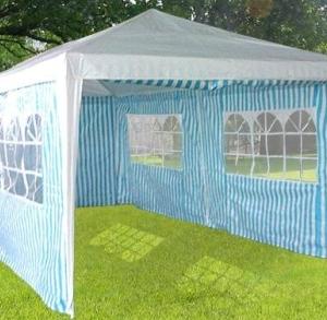 10 x 20 Blue & White striped Tent