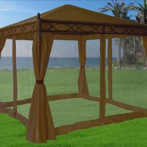 10 x 10 Beige Canopy Gazebo 2
