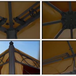 10 x 10 Beige Canopy Gazebo 3