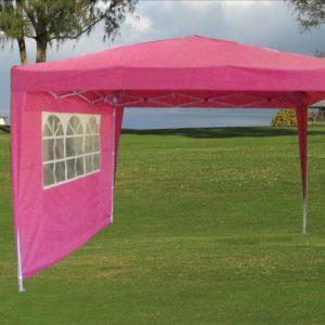 10 x 10 Pink Pop Up Tent 3