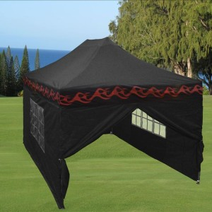 10 x 15 Flame Pop Up Tent Black