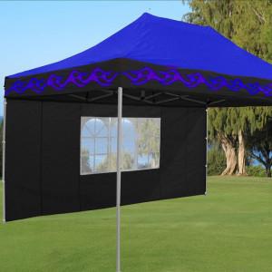 10 x 15 Flame Pop Up Tent Blue 2