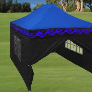 10 x 15 Flame Pop Up Tent Blue
