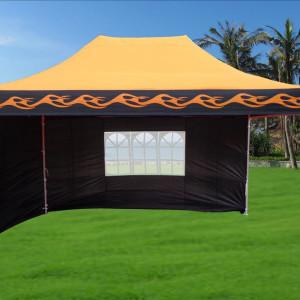 10 x 15 Flame Pop Up Tent Orange 2