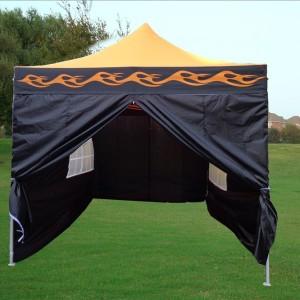 10 x 15 Flame Pop Up Tent Orange